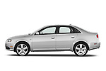 Driver side profile view of a 2005 - 2008 Audi A4 3.2 Sedan.