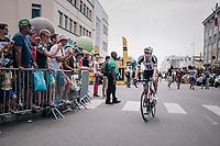 Tom Dumoulin (NED/Sunweb) on his way to sign-on<br /> <br /> Stage 6: Brest > Mûr de Bretagne / Guerlédan (181km)<br /> <br /> 105th Tour de France 2018<br /> ©kramon
