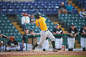 Siena Saints pinch hitter Phil Madonna (3) during a game against the Pittsburgh Panthers on February 24, 2017 at Historic Dodgertown in Vero Beach, Florida.  Pittsburgh defeated Siena 8-2.  (Mike Janes/Four Seam Images)