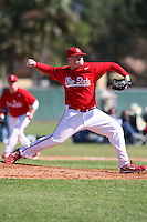 February 28, 2010:  Pitcher Brett McKinney of the Ohio Buckeyes during the Big East/Big 10 Challenge at Raymond Naimoli Complex in St. Petersburg, FL.  Photo By Mike Janes/Four Seam Images