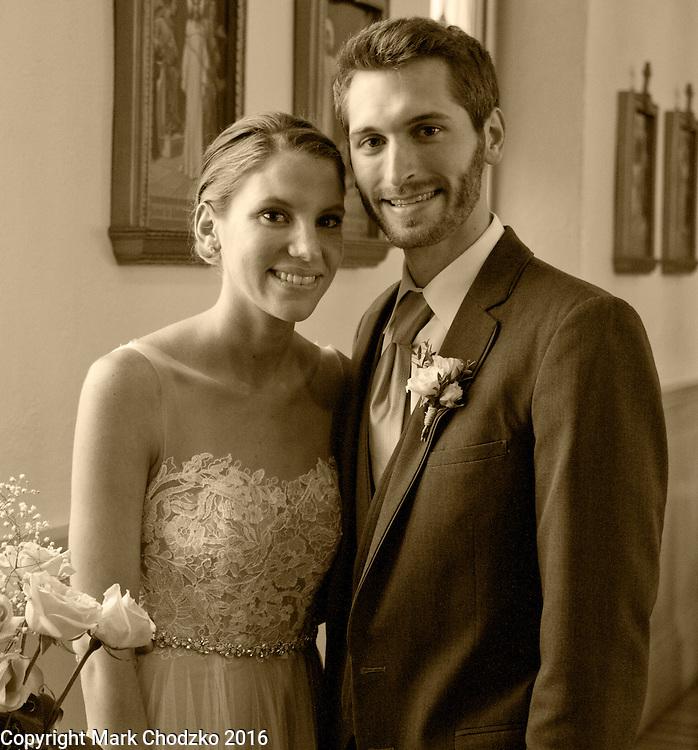 Alicia & Matt after the wedding.
