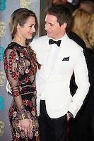 Hannah Bagshawe and Eddie Redmayne<br /> at the 2017 BAFTA Film Awards held at The Royal Albert Hall, London.<br /> <br /> <br /> ©Ash Knotek  D3225  12/02/2017