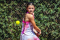 Hilversum, Netherlands, Juli 29, 2019, Tulip Tennis center, National Junior Tennis Championships 12 and 14 years, NJK, Niloufar Shahanggir (NED)<br /> Photo: Tennisimages/Henk Koster
