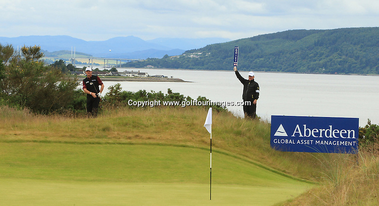 Paul Lawrie during the second round of the 2012 Aberdeen Asset Management Scottish Open being played over the links at Castle Stuart, Inverness, Scotland from 12th to 14th July 2012:  Stuart Adams www.golftourimages.com:13th July 2012