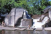 Portland: Lovejoy Fountain by Halprin & Assoc.  Photo '86.