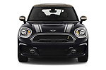 Car photography straight front view of a 2020 MINI Countryman Cooper-SE-JCW 5 Door SUV Front View