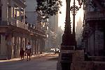 Havana, Cuba, The extraordinarily lavish rococo architecture of Havana Centro caught in sunrise light.