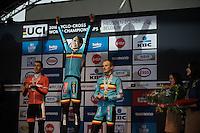 Wout Van Aert (BEL/Crelan-Vastgoedservice) is the new World Champion<br /> <br /> Men's Elite Race<br /> <br /> UCI 2016 cyclocross World Championships,<br /> Zolder, Belgium