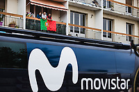 Porrugese trying to catch a glimpse of their fellow countryman Nelson Oliveira (POR/Movistar)<br /> <br />  Stage 9 from Pau to Laruns 153km<br /> 107th Tour de France 2020 (2.UWT)<br /> (the 'postponed edition' held in september)<br /> ©kramon
