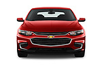 Car photography straight front view of a 2016 Chevrolet Malibu 1LT 4 Door Sedan Front View