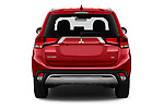 Straight rear view of 2020 Mitsubishi Outlander SEL 5 Door SUV Rear View  stock images