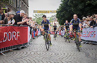 "Johan Esteban Chaves (COL/ORICA-Scott) & teammates<br /> <br /> ""Le Grand Départ"" <br /> 104th Tour de France 2017 <br /> Team Presentation in Düsseldorf/Germany"