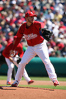 March 4, 2010:  Pitcher Roy Halladay of the Philadelphia Phillies makes his debut during a Spring Training game at Bright House Field in Clearwater, FL.  Photo By Mike Janes/Four Seam Images