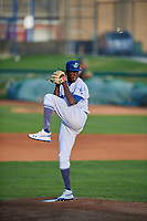 Ogden Raptors starting pitcher Jeronimo Castro (52) delivers a pitch to the plate against the Grand Junction Rockies at Lindquist Field on September 9, 2019 in Ogden, Utah. The Raptors defeated the Rockies 6-5. (Stephen Smith/Four Seam Images)