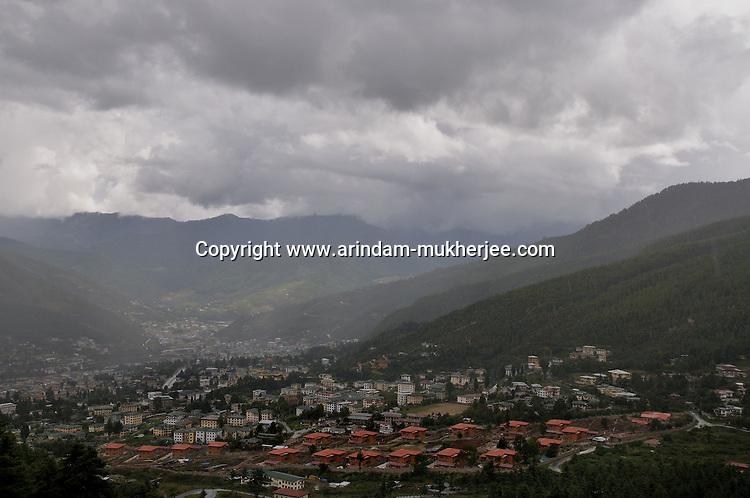 Thimpu city, Capital of Bhutan. Arindam Mukherjee..