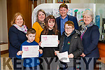 Credit Union Art Competition Winners L-R Daniel Keane Duagh, Eimile Cotter Knocknasna & John Roche Mountcollins. <br /> Also in photo are Reps. from Abbeyfeale Credit Union, <br /> Elaine Hennessy O' Keeffe, Mairéad Collins, Michael Lane & Patricia McCarthy.