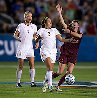 Nickolette Driesse, Ashley Meier. Florida State defeated Virginia Tech, 3-2,  at the NCAA Women's College Cup semifinals at WakeMed Soccer Park in Cary, NC.