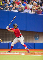 1 April 2016: Boston Red Sox outfielder Chris Young in action during a pre-season exhibition series between the Toronto Blue Jays and the Boston Red Sox at Olympic Stadium in Montreal, Quebec, Canada. The Red Sox defeated the Blue Jays 4-2 in the first of two MLB weekend games, which saw an attendance of 52,682 at the former home on the Montreal Expos. Mandatory Credit: Ed Wolfstein Photo *** RAW (NEF) Image File Available ***