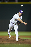 Winston-Salem Dash relief pitcher Will Kincanon (27) delivers a pitch to the plate against the Lynchburg Hillcats at BB&T Ballpark on May 9, 2019 in Winston-Salem, North Carolina. The Dash defeated the Hillcats 4-1. (Brian Westerholt/Four Seam Images)