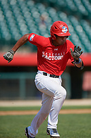 Yeison Ceballo (18) during the Dominican Prospect League Elite Underclass International Series, powered by Baseball Factory, on August 1, 2017 at Silver Cross Field in Joliet, Illinois.  (Mike Janes/Four Seam Images)