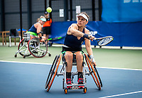 Amstelveen, Netherlands, 22 Augustus, 2020, National Tennis Center, NTC, NKR, National  Wheelchair Tennis Championships, Woman's doubles final  final : Marjolein Buis (NED) (R) and Michaela Spaanstra (NED)   <br /> Photo: Henk Koster/tennisimages.com