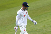 Alastair Cook of Essex leaves the field having been dismissed for 124 during Essex CCC vs Hampshire CCC, Specsavers County Championship Division 1 Cricket at The Cloudfm County Ground on 20th May 2017