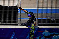 A man from the pit lane shows a sign with Yamaha's Valentino Rossi number <br /> Jerez 26/07/2020 Moto Gp Andalucia 2020 / Spain<br /> Photo Yamaha Press Office / Insidefoto <br /> EDITORIAL USE ONLY