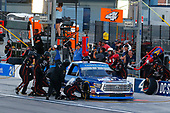 NASCAR Camping World Truck Series<br /> Las Vegas 350<br /> Las Vegas Motor Speedway, Las Vegas, NV USA<br /> Saturday 30 September 2017<br /> Christopher Bell, DC Solar Toyota Tundra pit stop<br /> World Copyright: Russell LaBounty<br /> LAT Images