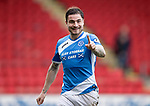 St Johnstone v Dundee…11.03.17     SPFL    McDiarmid Park<br />Paul Paton celebrates at full time<br />Picture by Graeme Hart.<br />Copyright Perthshire Picture Agency<br />Tel: 01738 623350  Mobile: 07990 594431