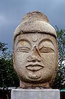 So. Korea: Kyong-Ju, Buddha head. Photo '81.