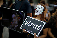 Anonymous for the voiceless, le 1er septembre 2018,dans le Vieux-Montreal.<br /> <br /> PHOTO : Agence Quebec Presse