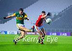 Seán O'Shea, Kerry in action against Paul Walsh, Cork, during the Munster GAA Football Senior Championship Semi-Final match between Cork and Kerry at Páirc Uí Chaoimh in Cork.
