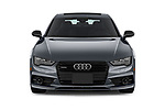 Car photography straight front view of a 2018 Audi A7 Premium Plus 5 Door Hatchback