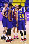 EUROLEAGUE 2020-2021. Playoffs.Game 1.<br /> FC Barcelona vs Zenit St. Petersburg: 74-76.<br /> Rolands Smits, Brandon Davies, Nick Calathes & Kyle Kuric.