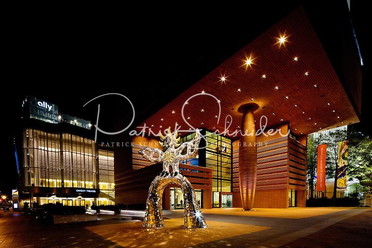 The Bechtler Museum of Modern Art at night in Uptown / Downtown / Center City Charlotte. Photo taken December 2010.
