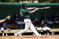 Plymouth State Panthers Paul Reny (15) during the second game of a doubleheader against the Edgewood Eagles on March 17, 2015 at Terry Park in Fort Myers, Florida.  Edgewood defeated Plymouth State 9-2.  (Mike Janes/Four Seam Images)