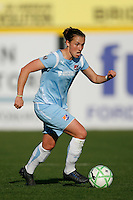 Meghan Schnur (12) of Sky Blue FC. The Los Angeles Sol defeated Sky Blue FC 2-0 during a Women's Professional Soccer match at TD Bank Ballpark in Bridgewater, NJ, on April 5, 2009. Photo by Howard C. Smith/isiphotos.com