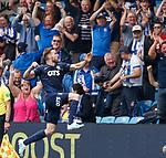 04.08.2019 Kilmarnock v Rangers: Stephen O'Donnell celebrates his goal