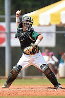 Farmingdale State Rams Kenneth Johntry during a game against the U-Mass Boston Beacons at North Charlotte Regional Park on March 19, 2015 in Port Charlotte, Florida.  U-Mass Boston defeated Farmingdale 9-5.  (Mike Janes/Four Seam Images)