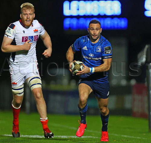 16th November 2020; RDS Arena, Dublin, Leinster, Ireland; Guinness Pro 14 Rugby, Leinster versus Edinburgh; Dave Kearney (Leinster) breaks into open field with the ball