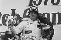 Mario Andretti celeberating at 1978 Dutch Grand Prix, Aug 27,1978<br /> ,Zandvoort