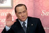 Silvio Berlusconi<br /> Roma 04-12-2013 Tempio do Adriano. Presentazione del libro 'Sale, zucchero e caffè'<br /> Photo Samantha Zucchi Insidefoto
