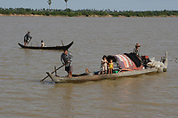 Mekong River<br /> , Cambodia - 2007 File Photo -<br /> <br /> <br /> fishing village people.    <br /> <br /> <br /> <br /> photo : James Wong-  Images Distribution