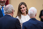 Queen Letizia attends the meeting of the members of the patronage of the Princesa de Asturias foundation at El Pardo Palace in Madrid, June 16, 2017. Spain.<br /> (ALTERPHOTOS/BorjaB.Hojas)