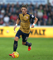 Mesut Ozil of Arsenal during the Barclays Premier League match between Swansea City and Arsenal played at The Liberty Stadium, Swansea on October 31st 2015