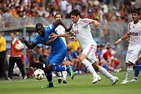 Demba Ba (Hoffenheim) gegen Hakan Balta (Galatasaray)<br /> TSG 1899 Hoffenheim vs. Galatasaray Istanbul, Carl-Benz Stadion Mannheim<br /> *** Local Caption *** Foto ist honorarpflichtig! zzgl. gesetzl. MwSt. Auf Anfrage in hoeherer Qualitaet/Aufloesung. Belegexemplar an: Marc Schueler, Am Ziegelfalltor 4, 64625 Bensheim, Tel. +49 (0) 6251 86 96 134, www.gameday-mediaservices.de. Email: marc.schueler@gameday-mediaservices.de, Bankverbindung: Volksbank Bergstrasse, Kto.: 151297, BLZ: 50960101