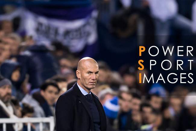 Manager Zinedine Zidane of Real Madrid looks on during the Copa del Rey 2017-18 match between CD Leganes and Real Madrid at Estadio Municipal Butarque on 18 January 2018 in Leganes, Spain. Photo by Diego Gonzalez / Power Sport Images