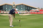 Martin Kaymer plays his 2nd shot on the 9th hole during Day 3 Saturday of the Abu Dhabi HSBC Golf Championship, 22nd January 2011..(Picture Eoin Clarke/www.golffile.ie)