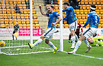 St Johnstone v St Mirren…27.10.18…   McDiarmid Park    SPFL<br />Matty Kennedy makes it 2-0 to saints<br />Picture by Graeme Hart. <br />Copyright Perthshire Picture Agency<br />Tel: 01738 623350  Mobile: 07990 594431