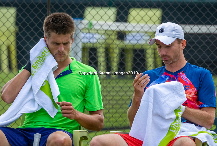 Rosmalen, Netherlands, 11 June, 2019, Tennis, Libema Open, Mens Doubles: Sander Arends (NED) and Matwe Middelkoop (NED) (R)<br /> Photo: Henk Koster/tennisimages.com